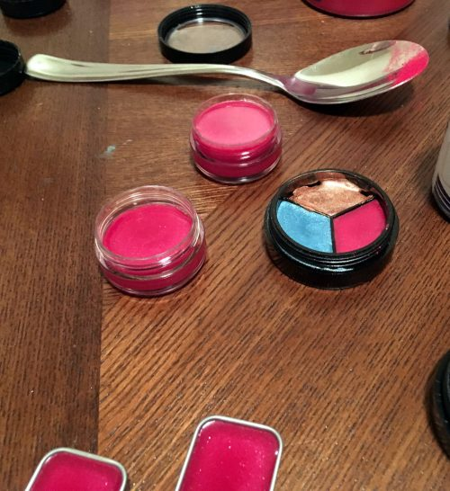 Learn how to make these tinted lip balm recipes three different ways! Combine them in a tri-cosmetic container or package them individually in pots, tins or tubes!