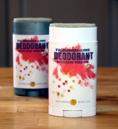 This palmarosa and lime natural deodorant recipe with aloe vera really works! And unlike natural deodorants that contain baking soda, this natural deodorant recipe contains no baking soda so it won't irritate sensitive skin.