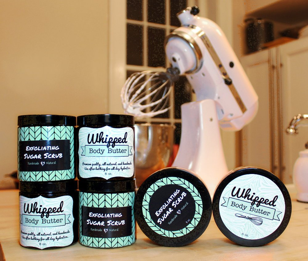 Whipped body butter souffle exfoliating whipped sugar for Body butter labels