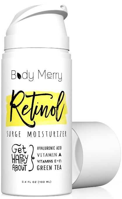 Retinol Surge Moisturizer - Retinol Cream 2.5% - 3.4 fl oz w Best Natural Ingredients Hyaluronic Acid Serum + Green Tea + Vitamins for Anti-Aging & Anti-Wrinkle & Even Skin Tone & Acne Care