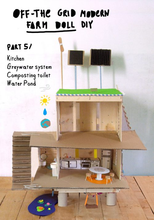 Off the Grid Modern Farm Dollhouse DIY via Handmade Charlotte blog