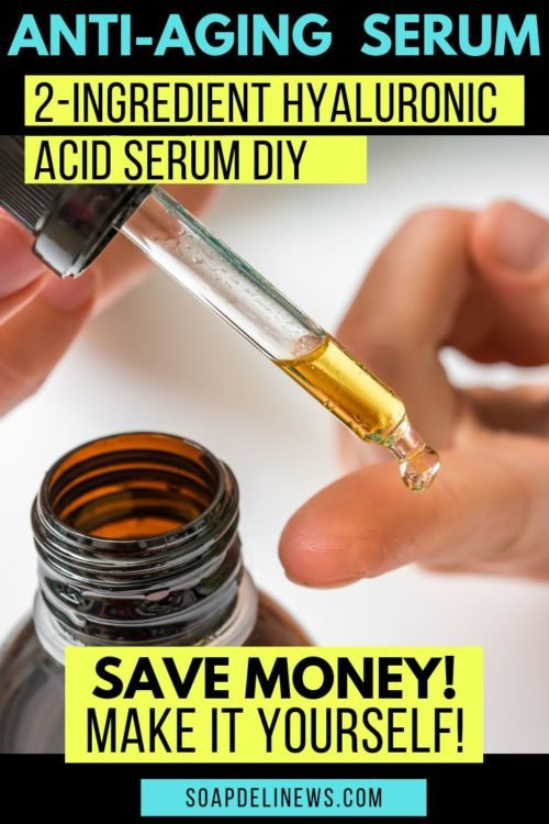 DIY Hyaluronic Serum. Save money on your anti-aging skin care products by making your own! With as few as 2-ingredients you can make your own DIY hyaluronic acid serum. Or add a few more ingredients for a power packed vitamin C serum! Learn about hyaluronic serum benefits and how to add homemade skin care products to your daily anti-aging beauty regimen and natural skin care routine. An inexpensive beauty hack to up your anti-aging skin care regimen using homemade beauty products. #antiaging