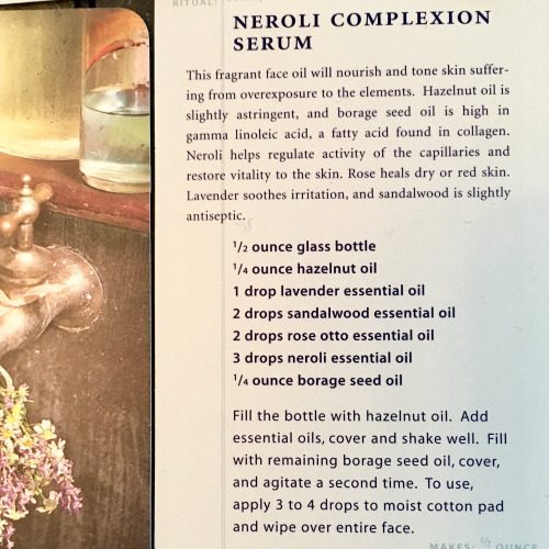 Natural Neroli Complexion Serum Recipe via The Spa Deck