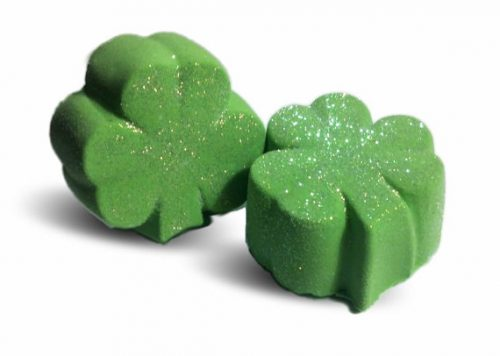 Handmade Magic Shamrock Bath Bombs from SpaGlo