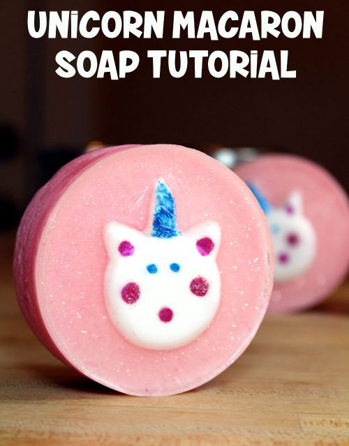 Unicorn Macaron Soap Tutorial! Learn how to make your own DIY unicorn macaron soaps with this soapmaking tutorial from Soap Deli News blog!