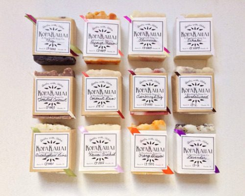 These beautiful assorted soaps from Kopa Kauai are perfect for soap wedding favors. Choose from a mix of scents or get them all in your favorite fragrance choice.