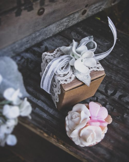 Boxed Soap Wedding Favors from LolliLuscious