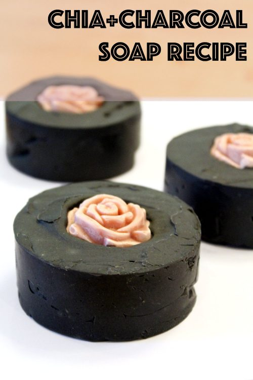 This homemade chia & charcoal soap recipe is palm free and is made with chia seed oil, activated charcoal and Australian midnight black clay.