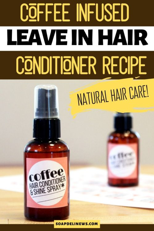 DIY leave in conditioner. How to make a natural leave in hair conditioner and shine spray recipe with coffee for dry hair. This leave in hair treatment works great for dry or damaged hair and is an easy natural hair care recipe. Make your own DIY hair care products for dry hair starting with this easy homemade leave in conditioner. Infused with coffee essential oil, this DIY hair conditioning treatment also contains camellia and babassu oils for extra natural hair conditioning.