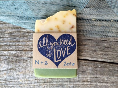 Olive oil soap wedding favors from Olive Street Mercantile. Luxurious artisan soaps created in small batches with ethically sourced ingredients including essential oils, botanicals and clays. Eco friendly, gentle and palm oil free.