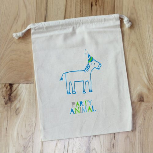 Reusable Party Animal Favor Bags from Love & Confetti