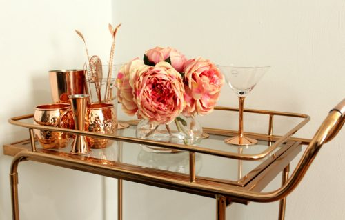 Rose Gold Bar Cart