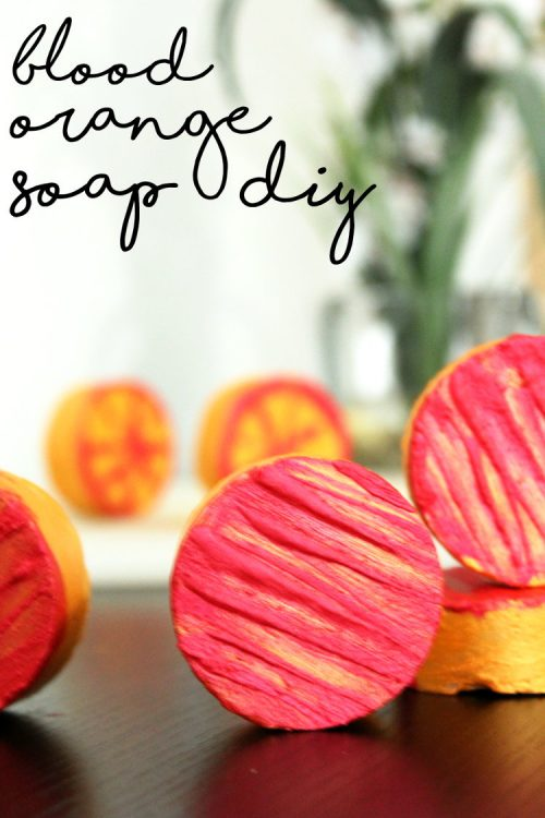 Natural Blood Orange Soap Recipe for Summer. This blood orange soap recipe is made with orange powder and blood orange essential oil which has anti-inflammatory, antiseptic and antibacterial properties making it a great homemade soap for acne prone and combination skin.