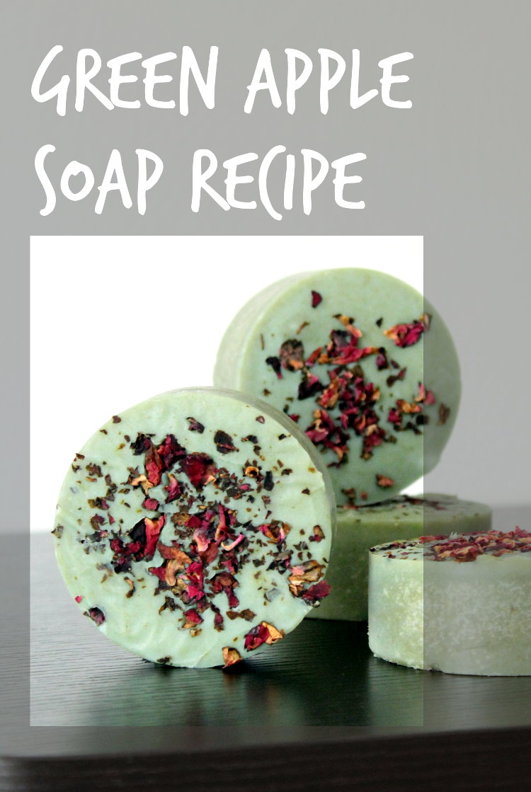 Learn how to make this homemade green apple soap recipe! Crafted using the cold process soapmaking method, this green apple soap recipe is made using real apple powder rich in alpha-hydroxy acids that can help to improve skin texture. In addition to rejuvenating skin and promoting skin elasticity, apple powder also has moisturizing properties that make it suitable for even dry or mature skin.