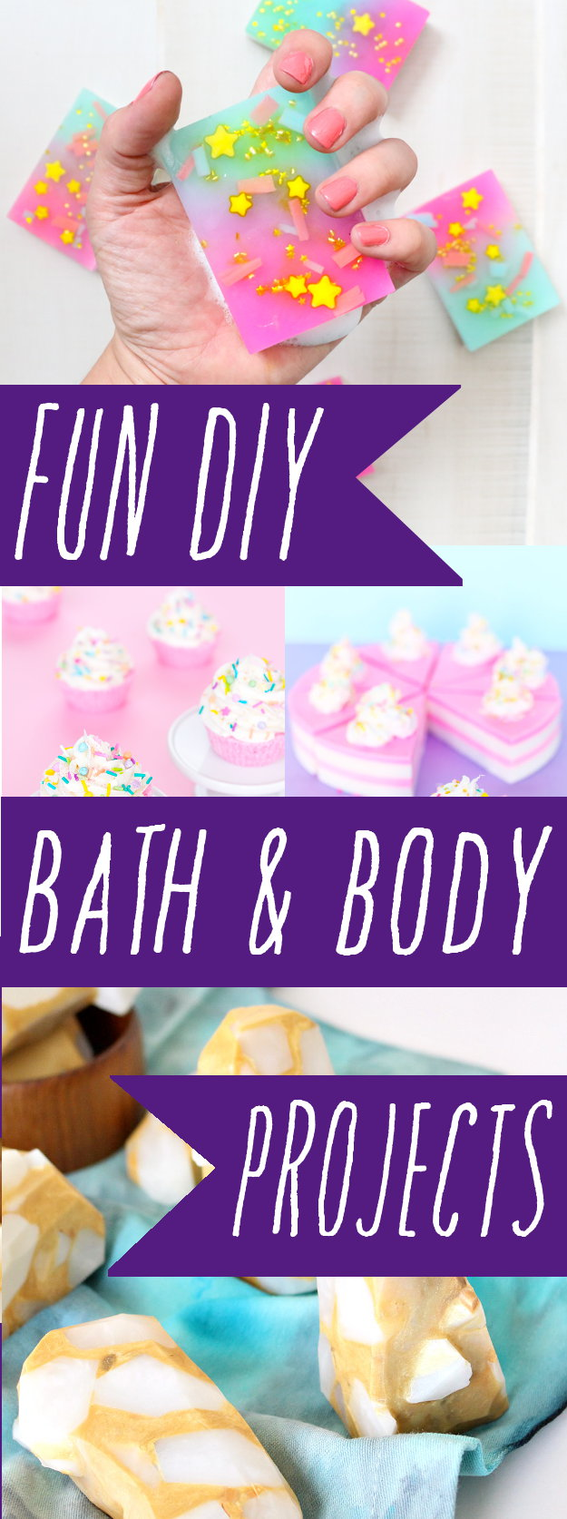 Ten super fun DIY bath & body projects you can create this weekend! Homemade soaps, bath bombs, scrubs and body balms to get you in the creative spirit!