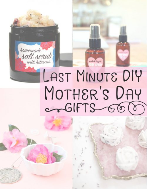 If you can squeeze in an hour out of your busy schedule then you can DIY these last minute Mother's Day gift ideas! Make them in an afternoon. Gift the next day.
