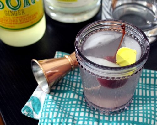 This lemon ginger spritzer cocktail recipe requires just three ingredients for the perfect summer drink!