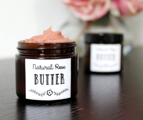 Looking for a vegan friendly moisturizer DIY? This rose body butter recipe fits the bill! Made with natural vegan ingredients, this divine body butter nourishes skin without leaving it feeling greasy or heavy. #diy #skincare #beauty #rosebutter #vegan #natural #recipe #naturalskincare #naturalbeauty #moisturizer #antiaging