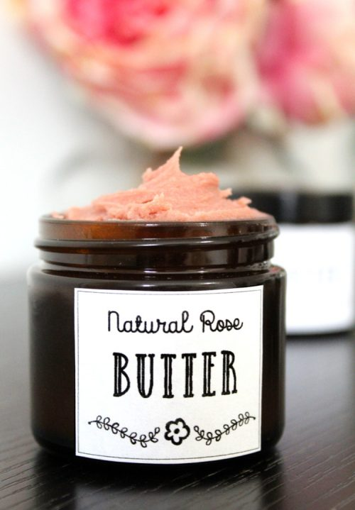 Looking for a vegan friendly moisturizer DIY? This rose body butter recipe fits the bill! Made with natural vegan ingredients, this body butter nourishes skin without leaving it feeling greasy or heavy.