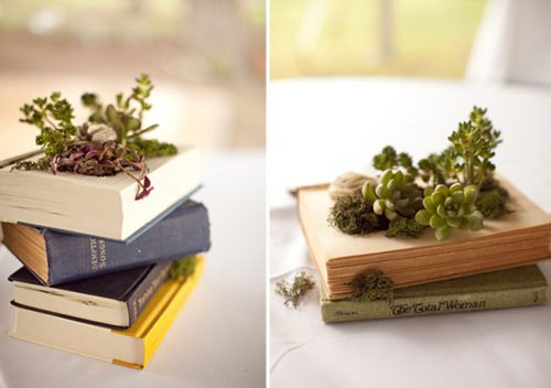 DIY succulent container garden! Learn how to make a DIY book planter for your succulents with this tutorial from Green Wedding Shoes blog!
