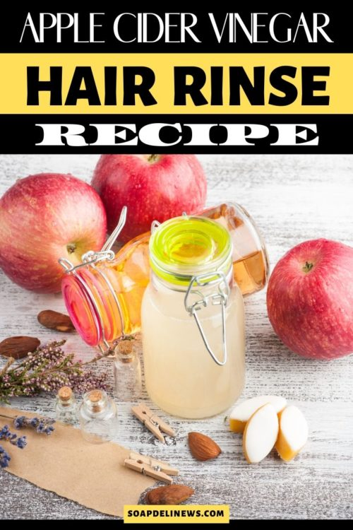 Apple Cider Vinegar Hair Rinse Recipe with Yerba Mate for Healthy Looking Hair. This Apple Cider Vinegar Hair Rinse Recipe with yerba mate helps strengthen hair & improve luster as well as restore hair's natural color & deter gray hair. While this yerba mate apple cider vinegar hair rinse is especially beneficial for anyone using a no poo hair care approach, it's wonderful for all hair types. Learn the benefits of apple cider vinegar and how to add this ACV rinse to your DIY hair care routine.