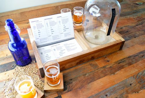 Handcrafted Beer Making Kit! This handcrafted beer making kit is a great gift for a boyfriend or even you Dad for Father's Day! Handcrafted from rustic pine, this compact and clever design gives you all the basics to get brewing one gallon of tasty beer (about 10 bottles), including a set of 4 five ounce sampler glasses and coasters to share your brew with friends and family.