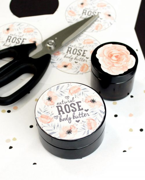 This natural rose body balm recipe is not only super luxurious, but it only requires 3 simple ingredients to make! Crafted using tea seed oil, rose wax and shea butter, this rose body balm recipe is all natural and makes a lovely homemade gift!