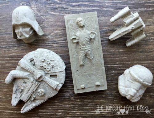 Awesome DIY Father's Day gift idea! Make Dad his own set of DIY Star Wars magnets and push pins via the tutorial at The Domestic Heart blog!