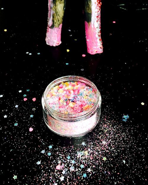 Unicorn soap DIY for unicorn lovers in need of a little magic. We can all use a little more magic in our lives. Bring some of that magic into your shower with this DIY glitter galaxy unicorn soap. Made with a ridiculous amount of eco-glitter, this unicorn soap recipe offers a fun spin on galaxy soaps. And, because it's made using melt and pour soap base, anyone can tackle this project as a fun weekend DIY.