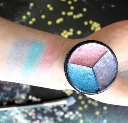 DIY Unicorn Eyeshadow in a Tri-Color Pressed Palette! Learn how to make your own scented DIY unicorn eyeshadow. This fun trio of pressed eyeshadows offers lasting pastel color and shimmer that's perfect for eyes. Once you've mastered these colors, be sure to try out your own custom DIY unicorn eyeshadow colors!