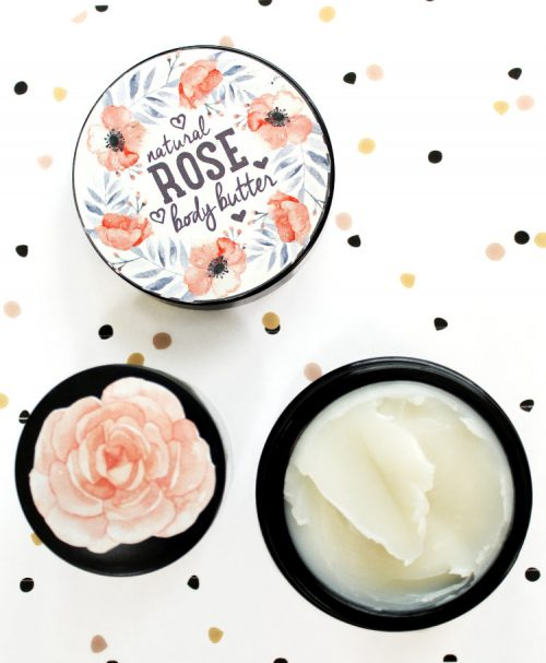 DIY Valentine's Day Gifts! This natural luxe rose body balm recipe only requires 3 simple ingredients to make! Crafted using tea seed oil, rose wax and shea butter, this rose body balm recipe is all natural and makes a lovely DIY Valentine's Day gift! #valentinesdaygift #valentines #diy #roses #bodybutter #skincare #beauty #giftsforher