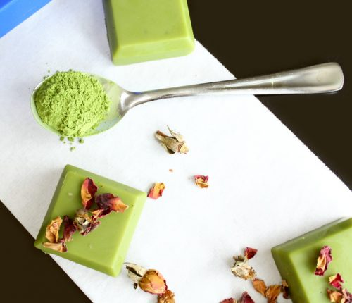 These DIY Matcha Green Tea Butter Bars are made with skin nourishing tea seed oil and matcha green tea to create a luxurious solid lotion bar that melts onto skin upon application. Unlike recipes for traditional solid lotions bars, these naturally green tinted DIY Matcha Green Tea Butter Bars absorb quickly and won't leave your skin feeling greasy.