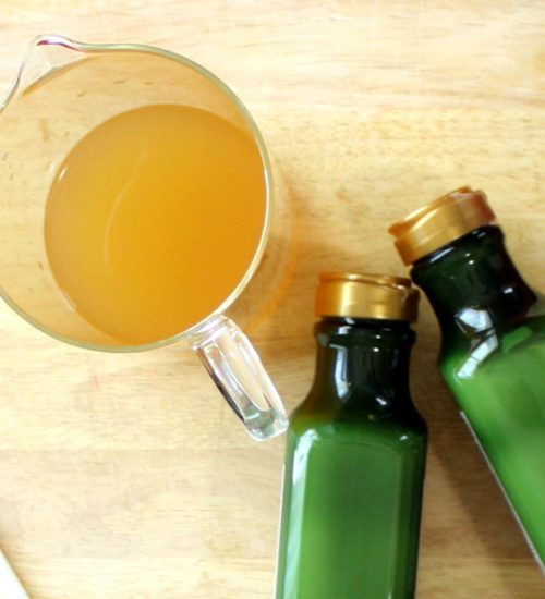 This Yerba Mate Hair Rinse Recipe with apple cider vinegar not only helps to strengthen hair and improve luster, but it can even restore hair's natural color and fend off those pesky grays. While this yerba mate hair rinse is especially beneficial for anyone using a no poo hair care approach, it's wonderful for all hair types.