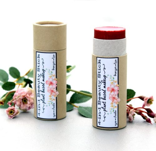 Plant Based Rose Skin Care Recipes for Natural Beauty & Gifts! Using just a few natural ingredients and mica you can create your own custom colored makeup sticks!