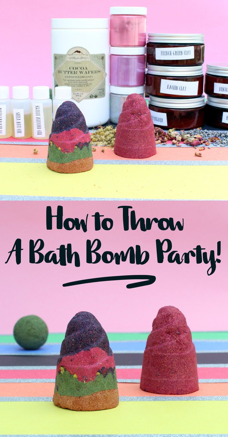 How to throw a DIY Bath Bomb Party! The logistics of setting up a DIY bath bomb party for a large group of people with only one scale and everyone wanting to create their own custom bath bombs is a bit daunting. So, just how do you throw a DIY bath bomb party? Click through to Soap Deli News blog now to learn how to throw a DIY bath bomb party for a large group of friends!