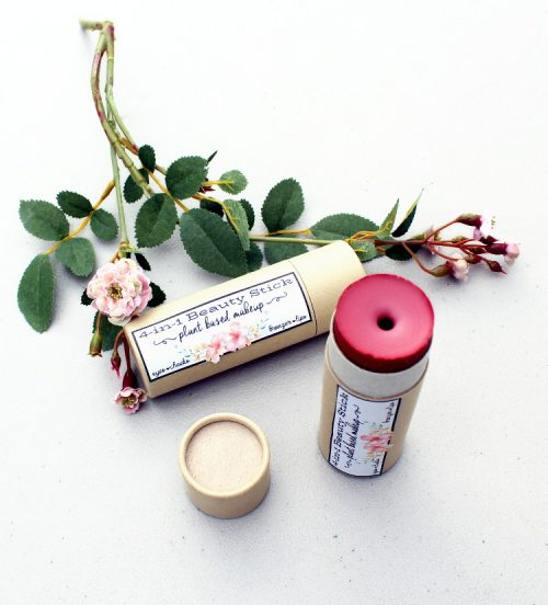Plant based makeup is the new trend. However, you don't have to spend a fortune investing in premiere brand natural cosmetics to get it. Instead, try make your own! Simply start with a few natural ingredients and add micas to create your own rose scented 4-in-1 all over cream beauty stick!