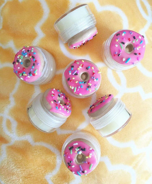 Pink Sprinkled Donut Lip Balm from Sweet Suds by April