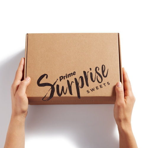 The Prime Surprise Sweets Dash Button is a Wi-Fi connected device that orders Prime members a surprise box of delicious treats from small-batch artisans anytime you want, at just the press of a button.