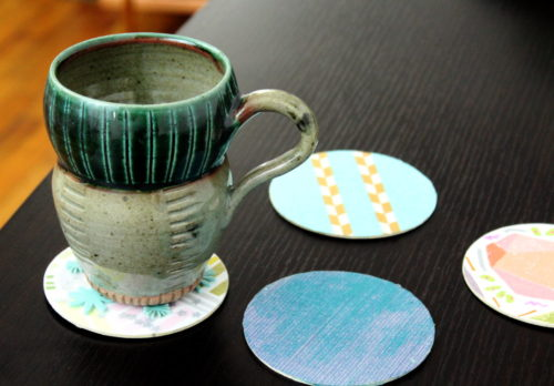 These easy DIY coasters are a great project for a DIY Girls Only Craft Night! Not only will you get in some awesome adult time making your own functional and fabulous custom DIY coasters that your husband will never remember to use!