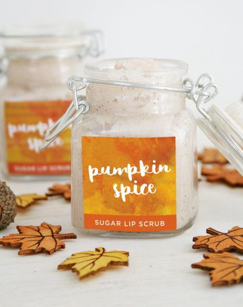 Pumpkin Spice Sugar Lip Scrub Recipe via Club Crafted