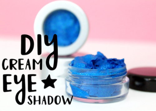 DIY Cream Eyeshadows! If you love makeup as much as I do, then you're going to want to check out these DIY cream eyeshadows! Not only are they super pigmented, but they also contain eco-friendly glitter! So not only will you feel great about wearing a product you've made yourself, but you can rock out the sparkle too!
