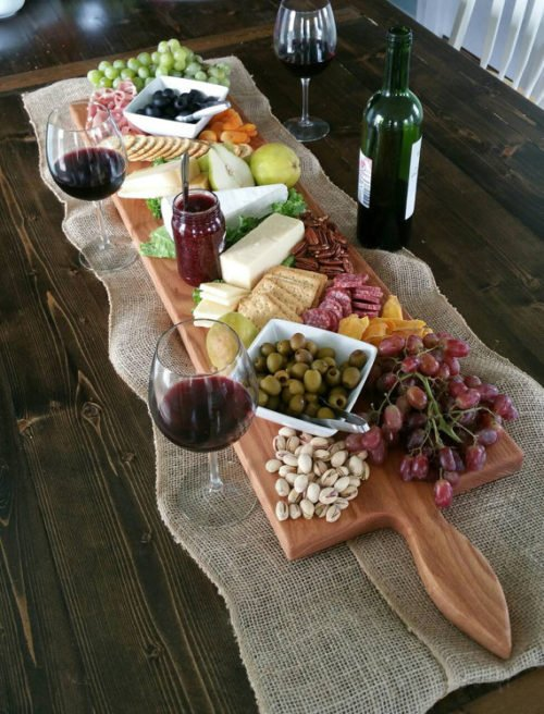 This extra large cheese board from Red Maple Run is perfect for hosting large parties during the holidays, special events or simply a girls only wine & cheese night!