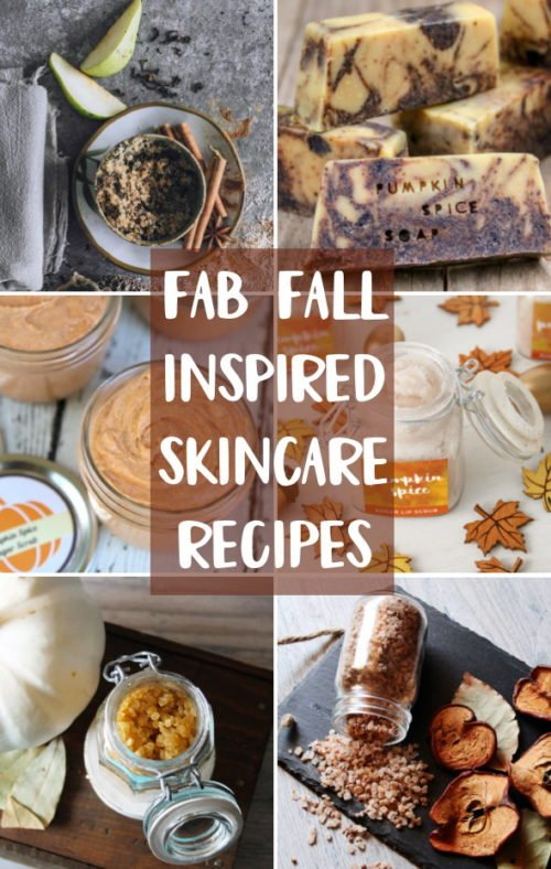 Fall Skin Care Recipes! 12 fab fall craft ideas for people obsessed about skin care! Homemade recipes for fall inspired soaps, salt scrubs, bath bombs and more that you can DIY!