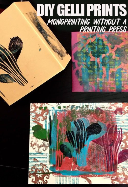 DIY Gelli Printing! Add some pop to your home decor with this fresh and fun DIY Gelli Printing Tutorial! Not only is gelli printing super easy and rewarding, but the availability of all-in-one kits makes this project even easier to dig right into!