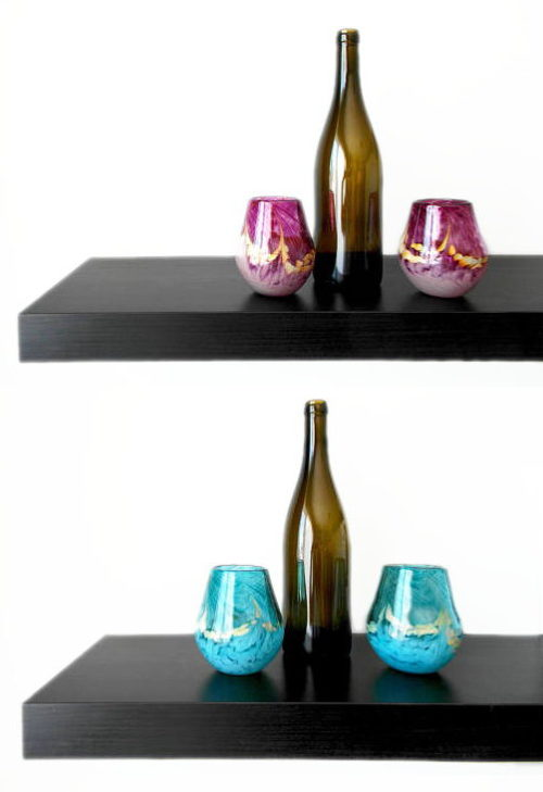 These hand blown stemless wine glasses from Miss Mac Glass are must haves for your next wine & cheese night!