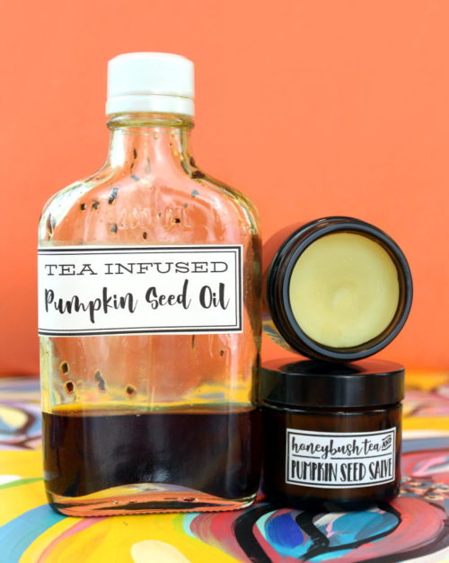 This homemade salve recipe for eczema is made using all natural ingredients including honeybush tea infused pumpkin seed oil. Prized in skin care for it's ability to soothe skin irritation, honeybush tea is a wonderful pantry staple for whole body health both inside and out! Visit Soap Deli News blog now for the recipe and to learn more about the benefits of honeybush tea and pumpkin seed oil that are incorporated into this valuable DIY.