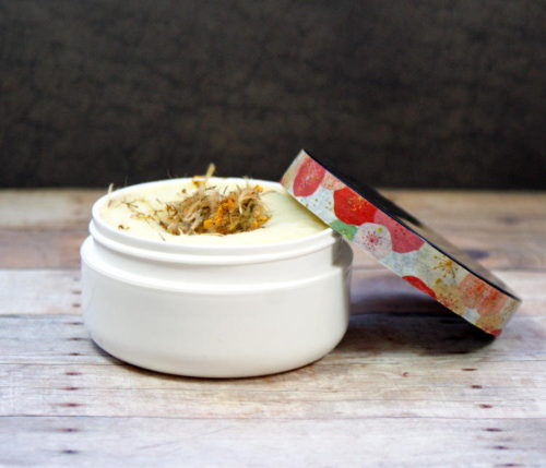 This natural neem oil body butter recipe is handmade with arnica infused coconut oil and neem oil to help ease the main of minor wounds, help to minimize the appearance of scarring and promote healing. Made with only the finest natural ingredients, this neem oil body butter is sure to become a staple in your bathroom medicine cabinet.