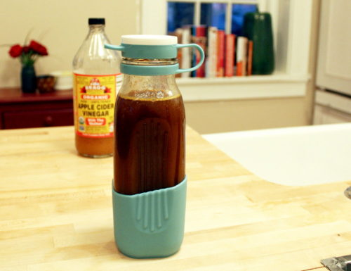 Why drink apple cider vinegar during cold & flu season? Drinking raw apple cider vinegar everyday is a great way to keep your immunity up. Not only can it help to prevent you from getting sick, but it also gives your body a boost to fight a cold or the flu if you do get sick. I have a great recipe for a turmeric ginger apple cider vinegar tonic here. If you already have a cold, adding a dash of cayenne pepper to suit can give this tonic an extra kick to help clear out stuffy nasal passages.