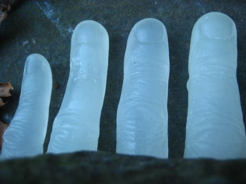 Freaky Fingers Glow in the Dark Halloween Soap from AJSweetSoap! Skinny dipping on all Hallows' Eve can lead to some unfortunate events. Hypothermia aside, you never know when a severed body part may come into play. These severed fingers soaps from AJSweetSoap actually glow in the dark. So don't be surprised if you stumble into a dark bathroom and find more than you expected. Just like a page out of Friday the 13th.