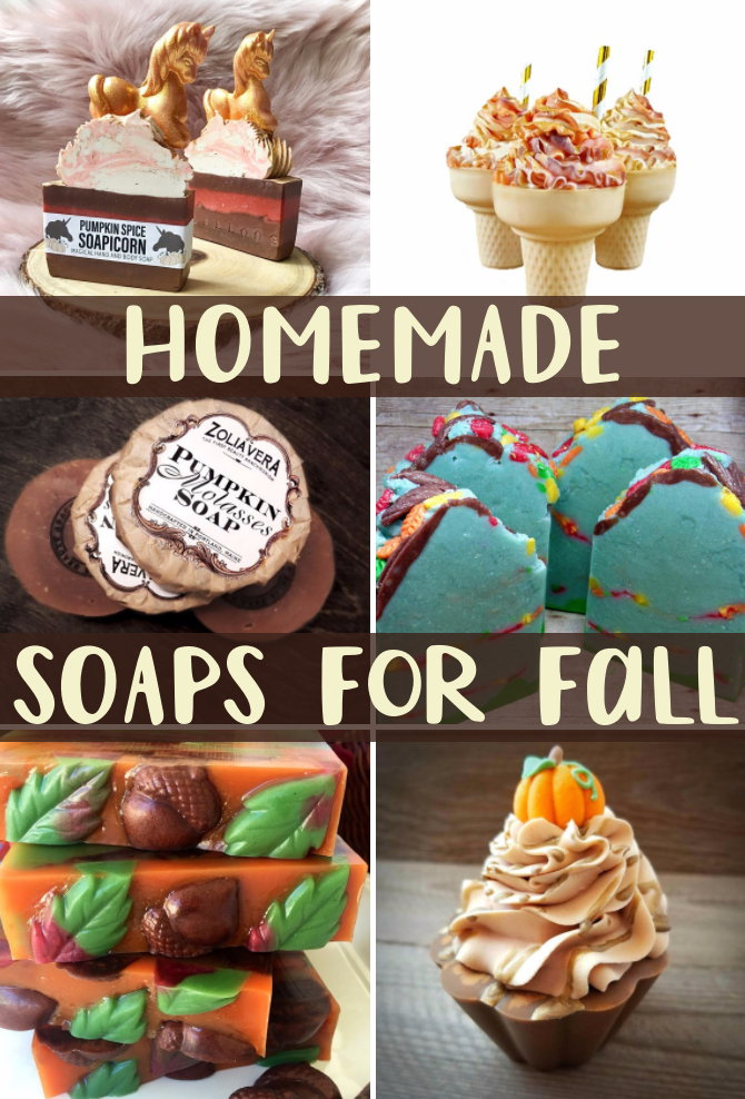The best homemade soaps for fall! These lovely artisan soaps are inspired by the colors and scents of fall and are the perfect Monday morning pick me up to start off your week!